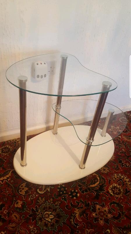 Beautiful Heart Shape Glass Table In Stoke On Trent