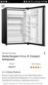 Mini fridge tall black danby