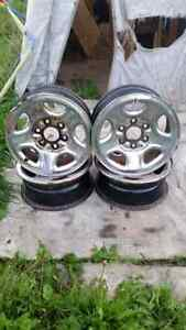 16 inch 6 stud Chevy rims.