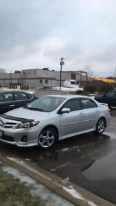 2013 Toyota Corolla S Silver in great condition