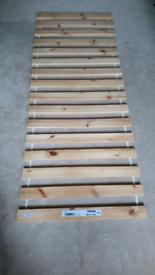 Pine slatted base for adjustable single bed. Ikea Sultan Lade.