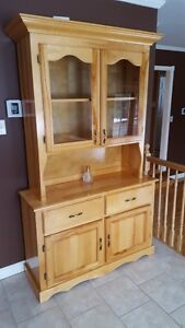 Solid maple buffet and hutch
