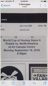 World Cub of Hockey Tickets