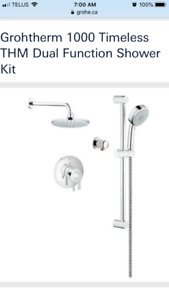 Grohe 1000 Timeless Thermostatic Shower - Chrome