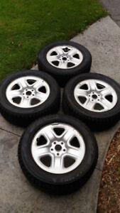 "Bridgestone Blizzak 235/60R17 Winter Tires on 17"" Toyota Rims"