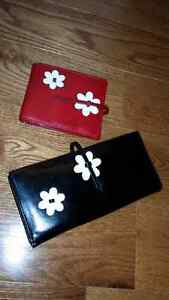 ESPE WALLET - Red & Black with Flowers
