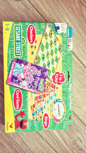 BRAND-NEW 3 in 1 Checkers, Card Game & Bingo
