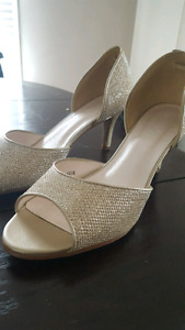Champagne Sparkly Heels Size 8