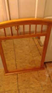 solid maple dresser mirror/vanity mirror