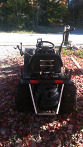 Yard Works lawn tractor with snowblower