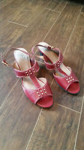 Brand New Red Sandals with Leather Upper - Size 9 - $20 Strathcona County Edmonton Area image 3