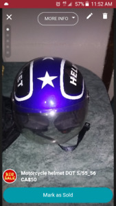 Motorcycle helmet DOT S/55-56