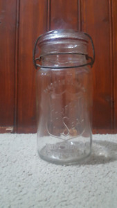 Antique Perfect Seal Wide Mouth Adjustable Glass mason Jar