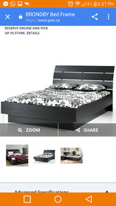 Brondby double bed frame