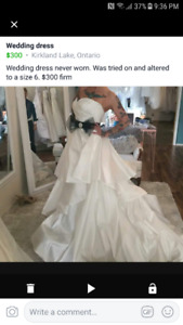 Wedding Dress altered to Size 6 Never worn