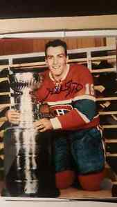 Signed Henri Richard 8X10 Montreal Canadiens