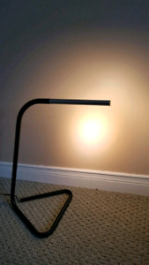 """Ikea ""HÅRTE"" LED work lamp, black, silver color"