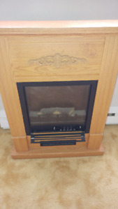 Electric Fireplace, works but needs some TLC, Asking $25obo