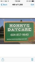 Mommy's Infant and toddler daycare centre(Aldergrove )