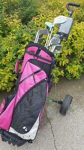 Ladies Right Hand Golf Clubs w bag & Cart  -  Also Cart for Sale