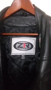 Leather Motorcycle Jacket, Gloves(extra)