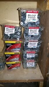 #14x3-1/2 wood screws, box of 55, $6 per box, 3 boxes for $15