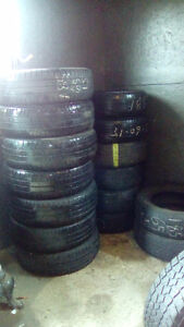 One set and several pairs of 185 R15 tires
