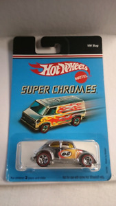 HOT WHEELS SUPER CHROME VW BUG 1968 VOLKSWAGEN DIECAST FIRM