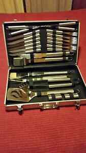 24 Piece BBQ Set in an Aluminum Case - Never Used - New !