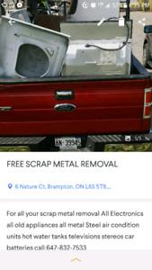 FREE SCRAP METAL REMOVAL SERVICE