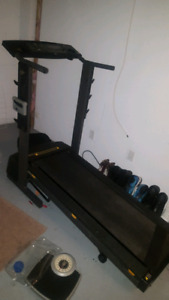 TREADMILL PRO-FORM WITH BUILT-IN WORK BENCH for sale
