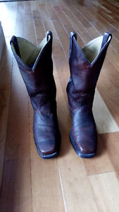 Leather Canada West Boots - MEN's Size 7.5 Perfect for Stampede!