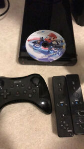 Wii u with game and pro controller