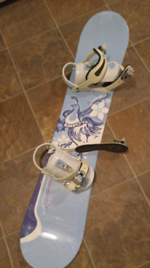 Snowboard with bindings 125mm