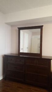 Dresser with mirror, $280