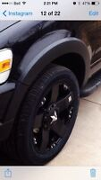 """20"""" rockstar rims with eagle RS tires"""