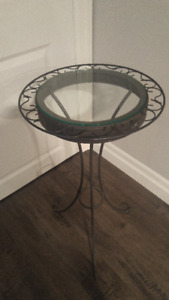 Decorative glass top side table