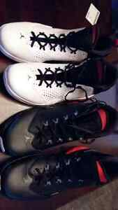 brand new black and wite jordan shoes size 13