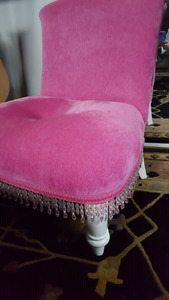 Pink Armless Chair