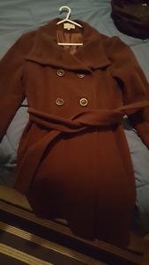 Manteau en laine NEUF marron