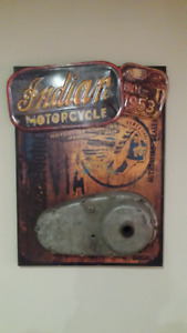 Indian motorcycle wall hanging