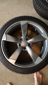 225/40/18 5x112 Michelin X-ice Winter Tires like NEW Audi reps