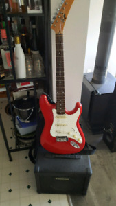 Guitar and amp for sale.