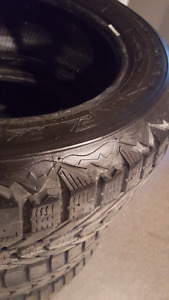 Set of 4 snow tires  225/55R17