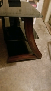 50 inch tv glass stand