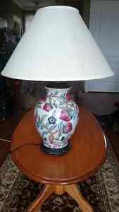 Rare Porcelain Embossed Gold Guilded Extra large Lamp For sale! St. John's Newfoundland image 1