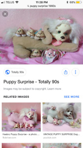 "Looking to buy 90s ""puppy surprise "" toys (with babies )"