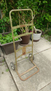 Vintage outdoor tools and dolley