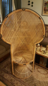 Wicker Peacock Chair for Sale