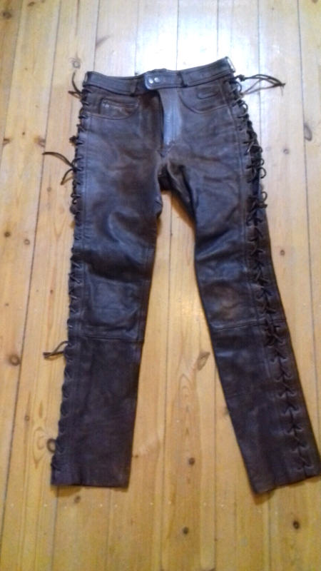 outlet boutique the latest fashionable patterns Mens Leather Biker Trousers | in Shepshed, Leicestershire | Gumtree